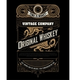 whiskey label with old frames and ornaments vector image vector image