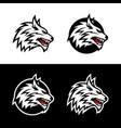 wild wolf esport mascot logo design vector image vector image