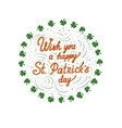 wish you a happy st particks day - card with vector image