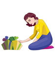 women with gifts vector image vector image