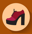 womens fashion shoes boots icon female winter vector image vector image
