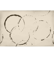 Shapes of Beer Wine and Coffee ring stains vector image