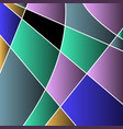 abstract colored stained glass mosaic vector image vector image