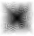 abstract halftone black dots pattern on white vector image