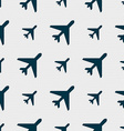 Airplane icon sign Seamless pattern with geometric