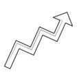 arrow pointer symbol vector image vector image