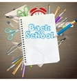 Back to school concept EPS 10 vector image