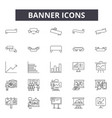 banner line icons for web and mobile design vector image vector image