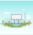 blank billboard for your inscription billboard vector image vector image