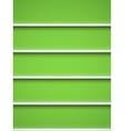 Bookshelf vector image vector image