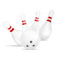bowling strike icon realistic style vector image vector image