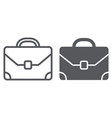briefcase line and glyph icon baggage and bag vector image vector image