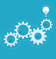 Business man spin the gear process improvement vector image