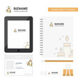 candles business logo tab app diary pvc employee vector image vector image