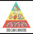 carnivore pyramid organic healthy food illu vector image
