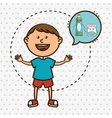 child with tooth isolated icon design vector image