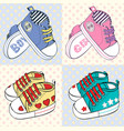 childrens sport shoes with stripesfor vector image vector image