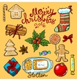 christmas sweets vector image vector image