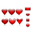 collection volume icon hearts vector image