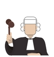court judge icon vector image