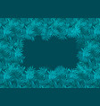 deep emerald green frame of fern tropical leaves vector image vector image