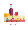 dessert conceptual banner vector image