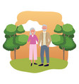 elderly couple avatar vector image