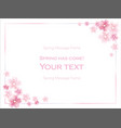 floral frame of cherry blossom vector image