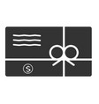 gift card icon in trendy flat style on white vector image vector image