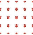 graduate emoji icon pattern seamless white vector image vector image