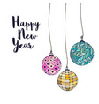 greeting card with christmas balls colorful new vector image vector image