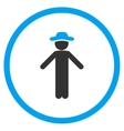 Guy Apology Circled Icon vector image vector image