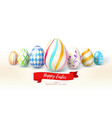 happy easter design of festive greetings cards vector image vector image