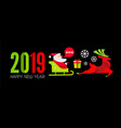 happy ner 2019 year christmas design template with vector image