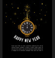 happy new year 2019 greeting card new year vector image vector image