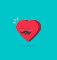 heart character with happy face vector image vector image