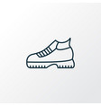 hiking boots icon line symbol premium quality vector image