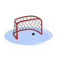 hockey goal in cartoon style isolated image vector image vector image
