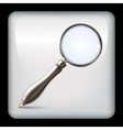 icon with realistic magnifying glass vector image
