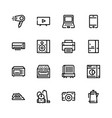 icons of household appliances are flat vector image vector image