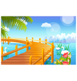 Lakeside Cityscape background vector image vector image