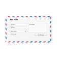 Mail form envelope vector image