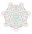 mandala of graceful curved lines folk motives of vector image