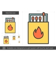 Matches line icon vector image vector image
