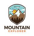 mountain explorer logo retro camping adventure