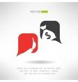 No bribe sign Corruption dialogue with bubbles vector image vector image