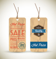 Old retro vintage grunge tags vector image vector image