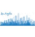 Outline Los Angeles Skyline with Blue Buildings vector image vector image