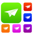 paper plane set collection vector image vector image