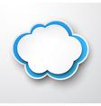 Paper white-blue cloud vector image